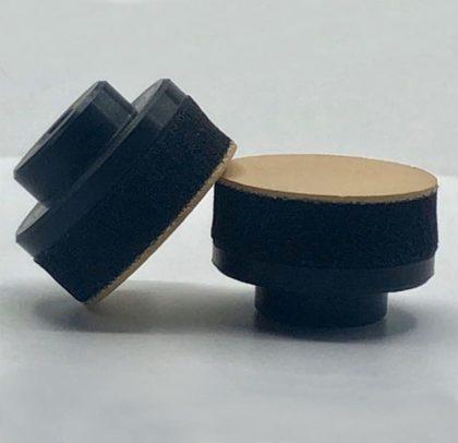Suporte para os abrasivos de Ø 35 ou 32mm – Rosca Macho e Rubber Bege