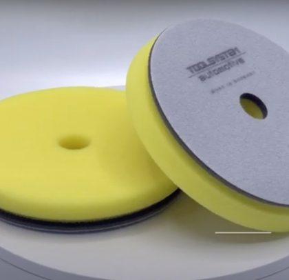 Boina de polimento com corte médio – amarela / cinza
