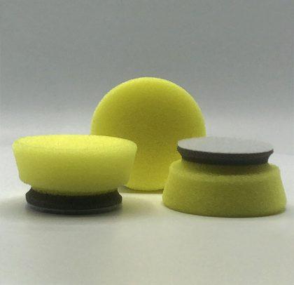 Kit com 3 Boinas de Polimento de Média Remoção – Corte Médio – Amarela/Cinza 23 mm Ø45 mm