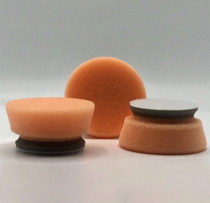 Kit com 3 Boinas de Polimento de Acabamento – Refino e Lustro – Laranja/Cinza 23 mm Ø45 mm